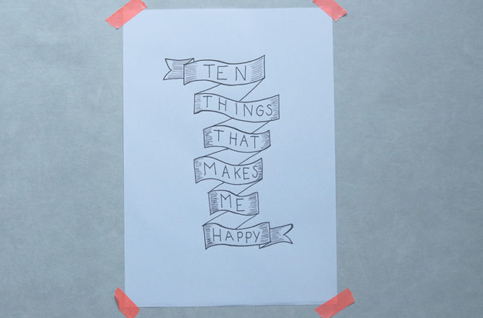 Ten things that makes me happy