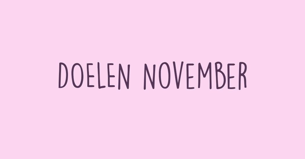 doelen voor november