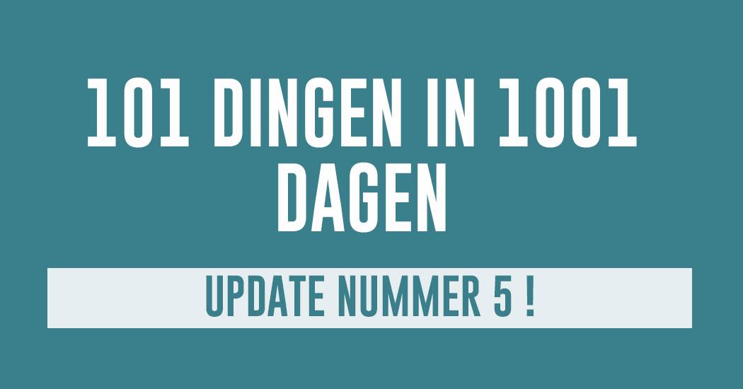 nieuwste update 101 dingen in 1001 dagen